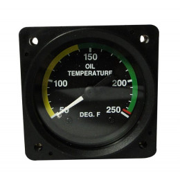 "ISS 2-1/4"" OIL TEMP GAUGE 50-250F NON TSO"