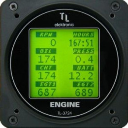 TL ENGINE INSTRUMENT FOR COMBINED ENGINE VALUES TL-3724