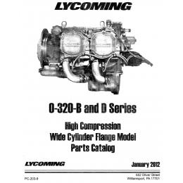 PC-203-9 LYCOMING 0-320 B & D PARTS CATALOG - WIDE DECK