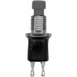 "PUSH BUTTON SWITCH 1/4"" BLACK"