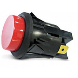 PUSH BUTTON 16 AMP BLACK CAP 15-133
