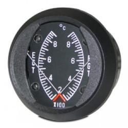 SWIFT GAUGE 2 INCH ROUND DUAL EGT/EGT GAUGE 200-900°C DE1-90C
