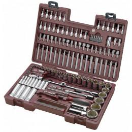 """Coffret à douilles, cliquet et accessoires 129 outils 1/2"""" et 1/4"""" Modulo KRAFTWERK"""