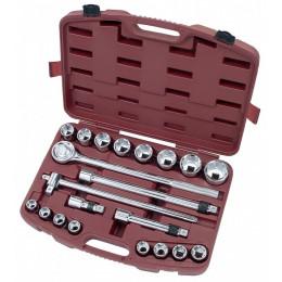 """Coffret de douilles, cliquet et accessoires 21 outils 3/4"""" KRAFTWERK"""