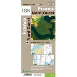 Carte IGN Nord-Ouest au 1/500 000