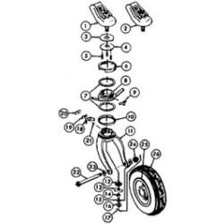 SCOTT 3200 roulette de queue / Pin