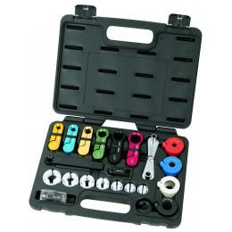 Coffret d'outils 22 p. pour conduites de carburant et climatisation KRAFTWERK