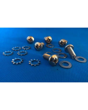 KIT,ROCKER COVER SCREW (6 X S/S SCREWS+PLAIN & STAR WASHERS) AEL102
