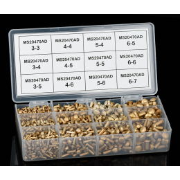 Assortiment de rivets affleurants MS20426AD
