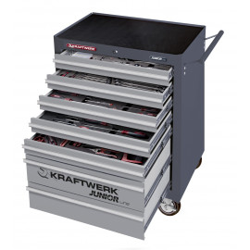 Servante 7 tiroirs 266 outils avec module mousse EVA Kraftwerk