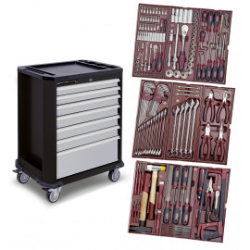 Servante d atelier complète avec 191 outils Kraftwerk