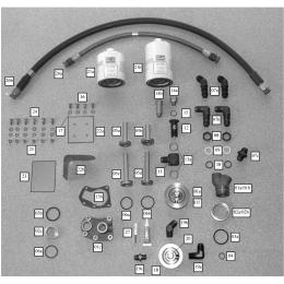 Kit filtre à huile déporté pour moteur Continental AFC-K3008-A